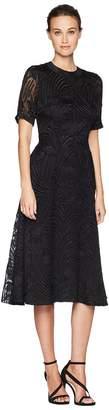 ADAM by Adam Lippes Fil Coupe Silk Short Sleeve Crew Neck Dress Women's Dress