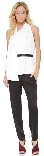 Alexander Wang Tuxedo Pleat Track Pants