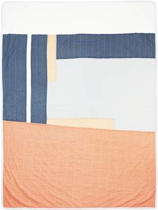 Anchal Project Large Throw Quilt (Peach & Slate)