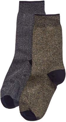 Emilio Cavallini 2Pk Metallic Trouser Socks