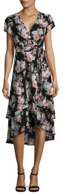 Wayf Layered Wrap Floral Dress $98 thestylecure.com