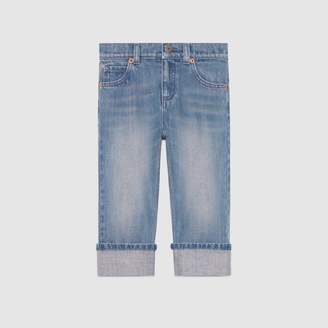 Gucci Children's stonewashed denim pant