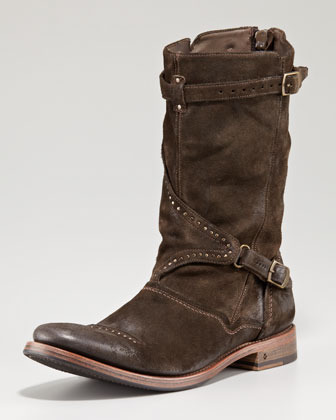 John Varvatos Studded Buckle Boot
