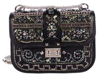 Valentino Embellished Small Glam Lock Bag