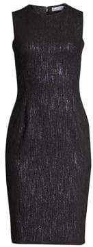 Versace Crewneck Sheath Dress