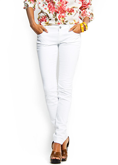 Slim-leg five pockets jeans
