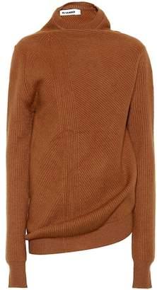 Jil Sander Draped wool and cashmere sweater