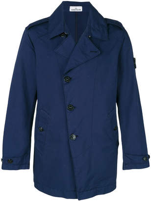 Stone Island asymmetric double breasted coat
