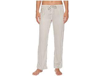 PJ Salvage Walk The Line Grey Striped Pants Women's Pajama