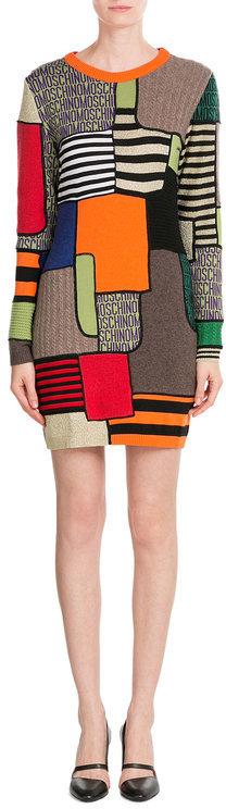 MoschinoMoschino Colorblock Wool Dress