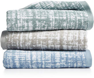 """Hotel Collection Plaid 30"""" x 56"""" Turkish Cotton Bath Towel, Created for Macy's"""