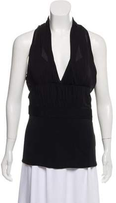 Alberta Ferretti Sleeveless Mesh Top