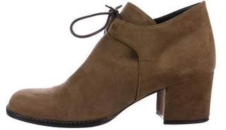 Saint Laurent Square-Toe Suede Ankle Boots