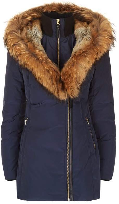 Akiva Down Fur-Lined Hooded Coat