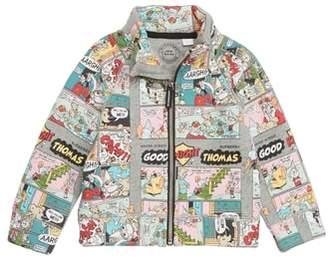 Burberry Comic Strip Cotton Track Jacket