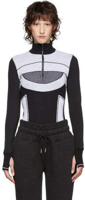 adidas by Stella McCartney Black and White Run Ultra Sweater