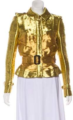Burberry Metallic Ruched Jacket