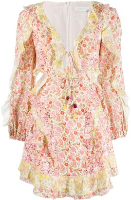 Zimmermann Goldie Floral mini dress
