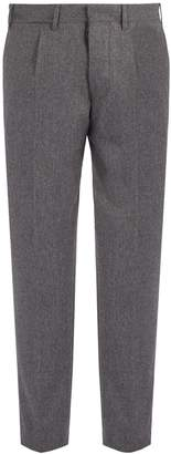 THE GIGI Wool-blend flannel trousers