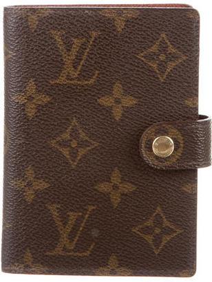 Louis Vuitton Small Monogram Agenda Cover $195 thestylecure.com