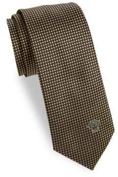 Versace Silk Geometric Polka-Dot Tie
