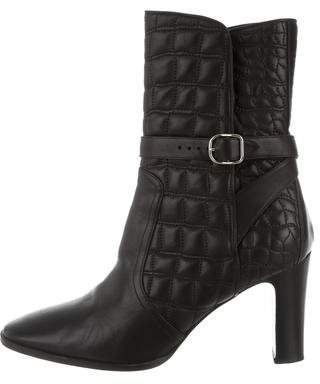 Hermes Quilted Ankle Boots