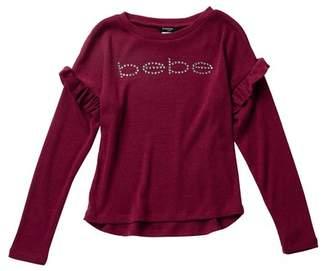 Bebe Rhinestone Knit Sweater (Big Girls)