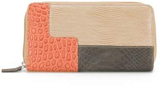Soprano Handbags Grace Reptile Print Leather Long Wallet
