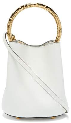 Marni Pannier Leather Bucket Bag - Womens - White