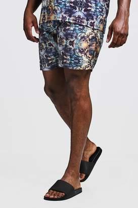 Big & Tall Kaleidoscope Print Swim Shorts