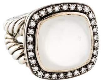 David Yurman Moon Quartz & Diamonds Albion Cocktail Ring