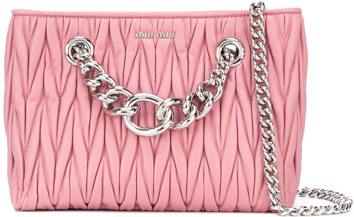 Miu Miu Miu Miu quilted shoulder bag
