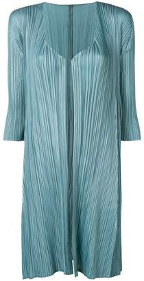 Pleats Please Issey Miyake pleated midi jacket