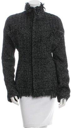 Yohji Yamamoto Silk & Wool-Blend Jacket w/ Tags $825 thestylecure.com
