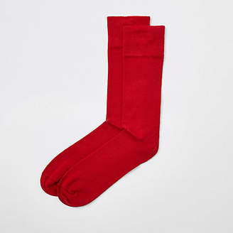 River Island Red smart socks