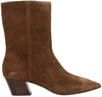 Ash Carla Brown Suede Ankle Boots