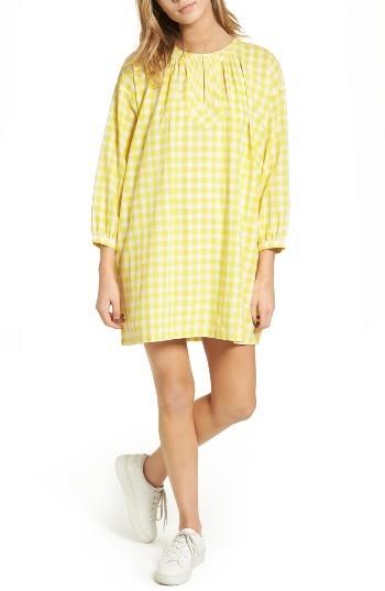 Women's Madewell Willow Gingham Tunic Dress