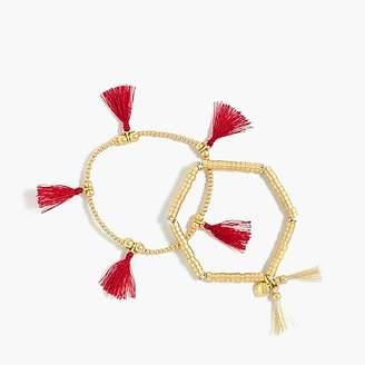 J.Crew Bead and tassel bracelet set