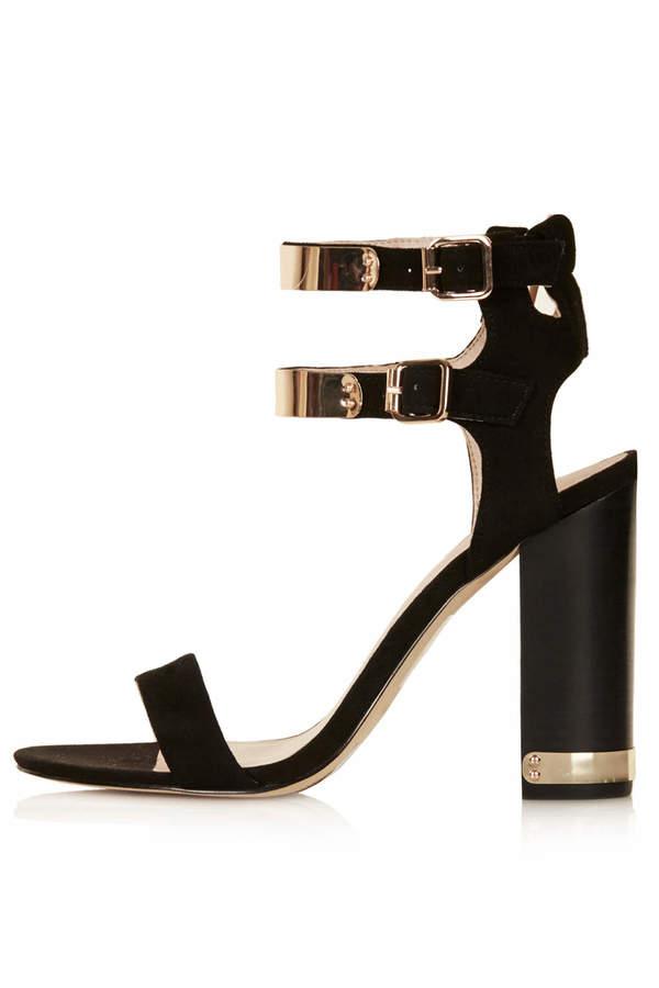 Topshop Rodeo double strap sandals