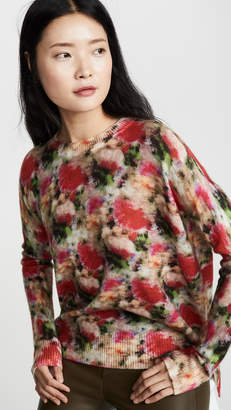 ADAM by Adam Lippes Floral Crew Neck Cashmere Sweater