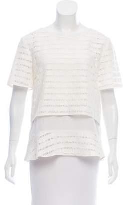Thakoon Layered Short Sleeve Top