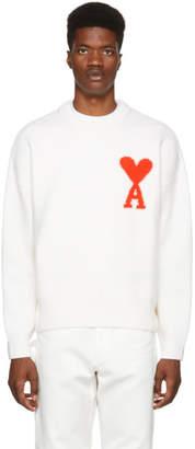 Ami Alexandre Mattiussi White Oversized Wool Sweater