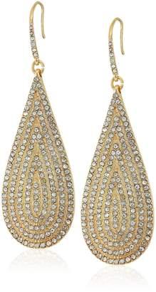 """ABS by Allen Schwartz Prom Queen"""" Elongated Tear Pierced Drop Earrings"""