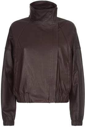 Vince Leather Bomber Jacket