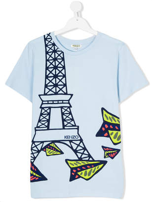 Kenzo Eiffel tower print T-shirt