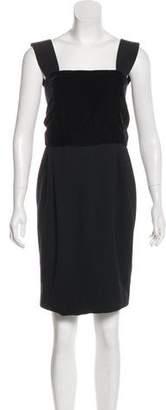 Gianni Versace Virgin Wool-Blend Knee-Length Dress