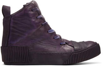 Boris Bidjan Saberi Purple Horse High-Top Sneakers