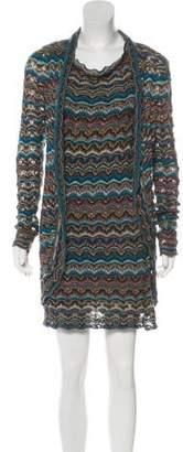 Calypso Chevron-Patterned Knit Dress Set