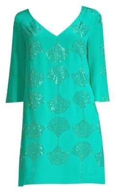 Trina Turk Glitterati Silk Dress