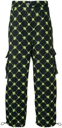 Sunnei diamond check trousers
